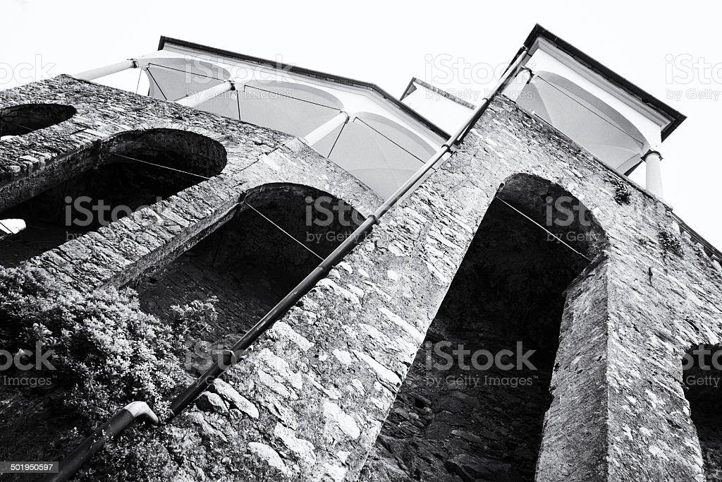 Church. Black and White royalty-free stock photo