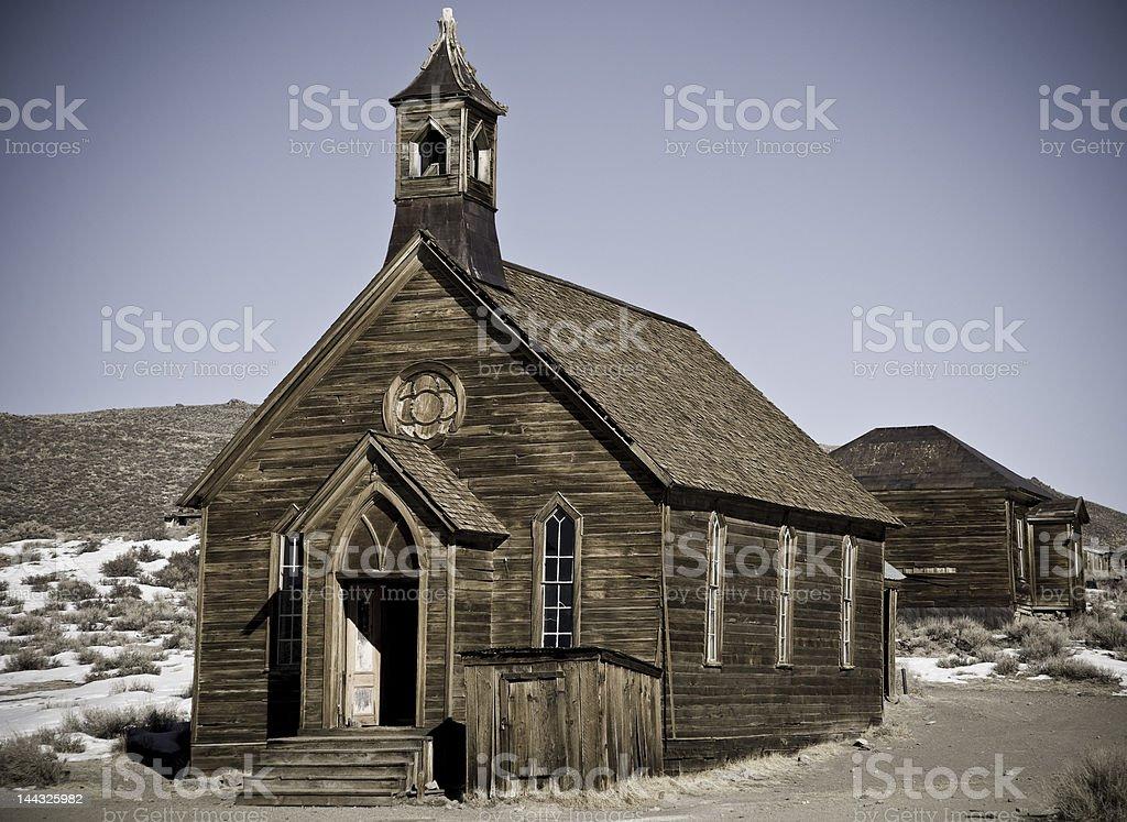 Church, Bodie, CA royalty-free stock photo