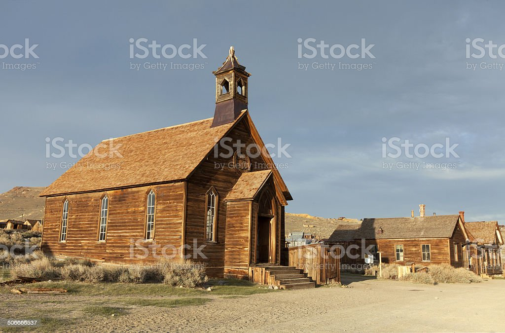 Church - Bodie State Historic Park stock photo