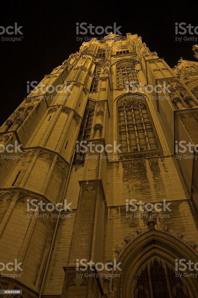 Church by night royalty-free stock photo