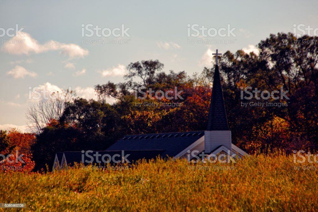 Church By The Hill stock photo