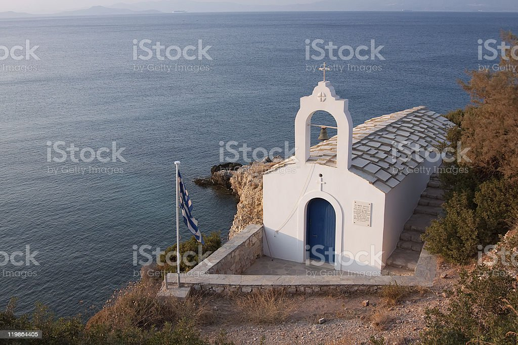 Church by the Sea stock photo