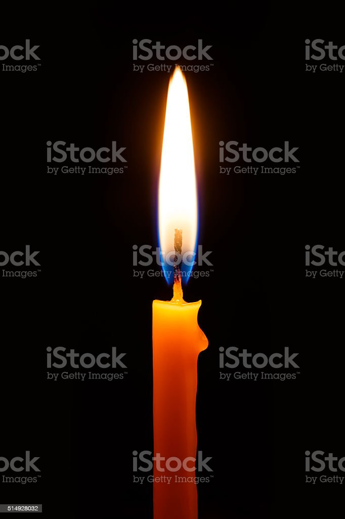 Church candle stock photo