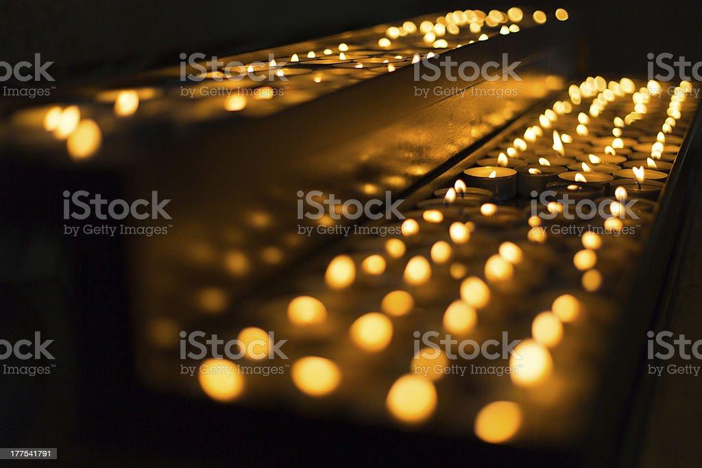 Church candles landscape - So many hopes royalty-free stock photo