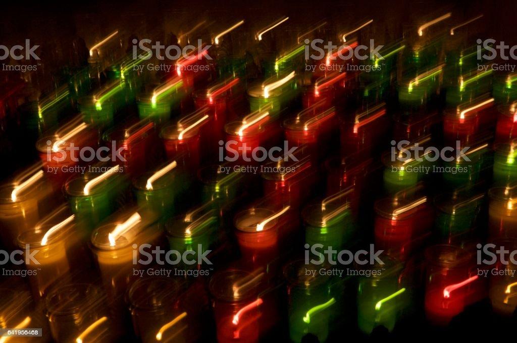 Church candles pattern stock photo