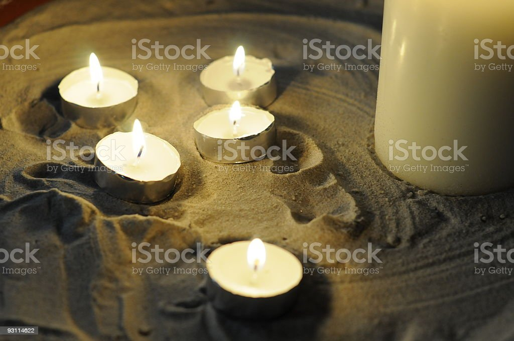 Church candles,Jersey. stock photo