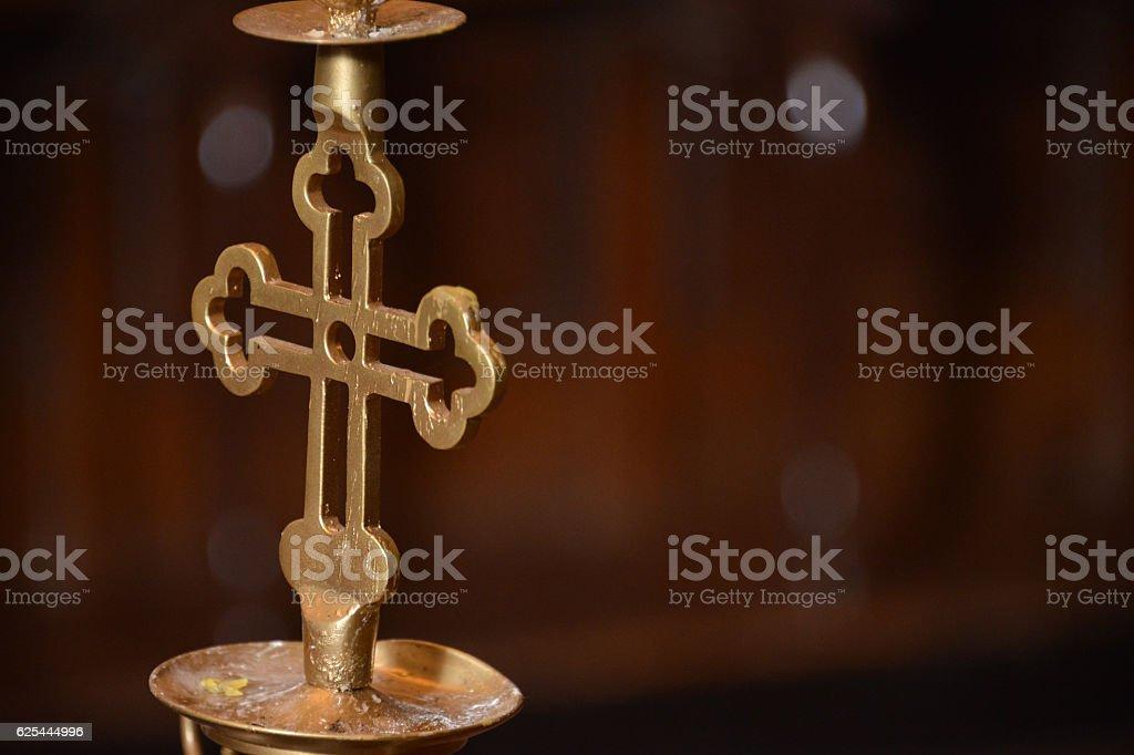Church candlestick stock photo
