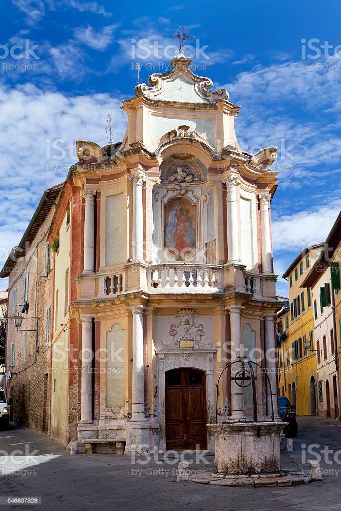 church Casa del Cavallo in historic  Siena, Tuscany, Italy stock photo