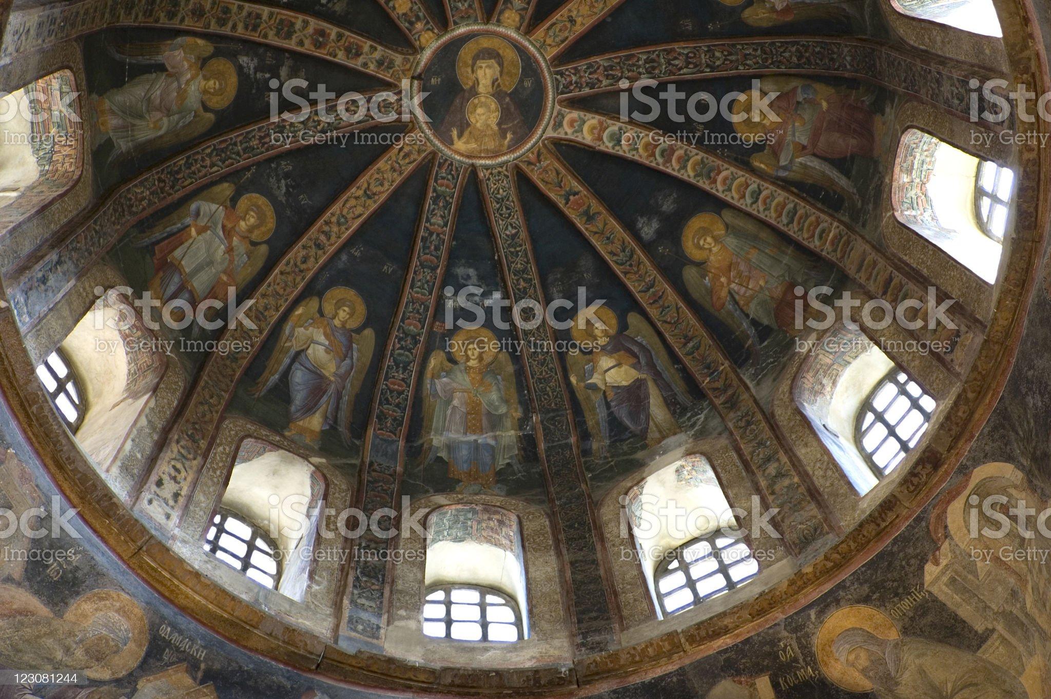 Church Chora, 14 century, Istanbul, Turkey royalty-free stock photo