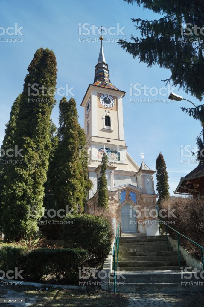 Church Christian Orthodox  The Holy Trinity - 1813, Schei, Brasov, Romania (Biserica Sfanta Treime) stock photo