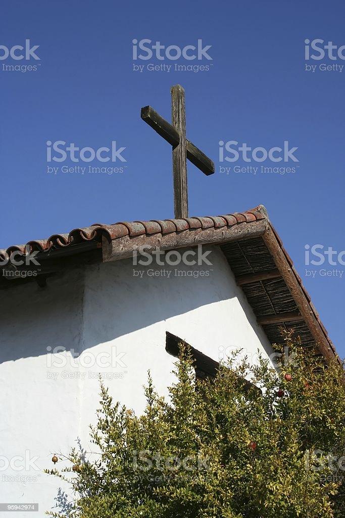 Église vers des années 1800 photo libre de droits