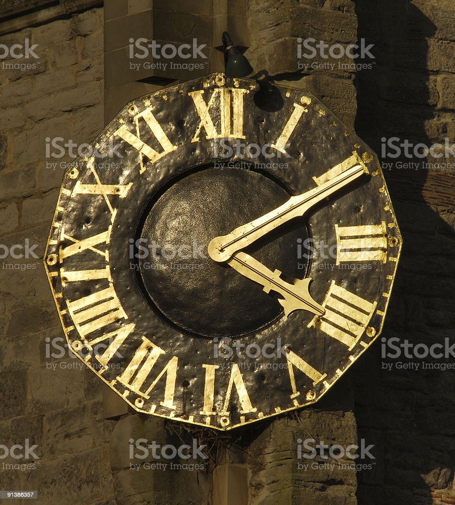 Church Clock, Alcester royalty-free stock photo