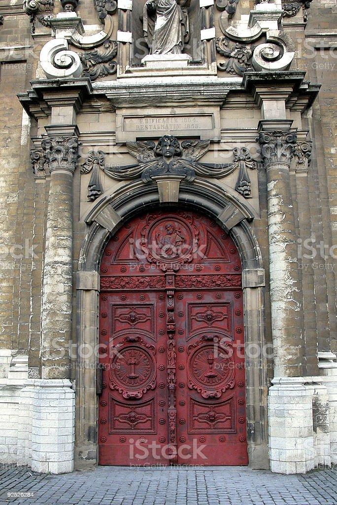 Church closed door royalty-free stock photo