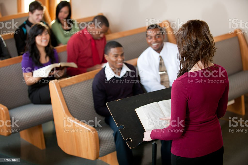 Church Congregation stock photo