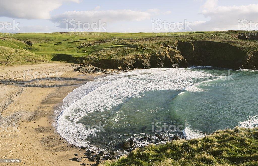 Church Cove on the Lizard peninsular in Cornwall royalty-free stock photo