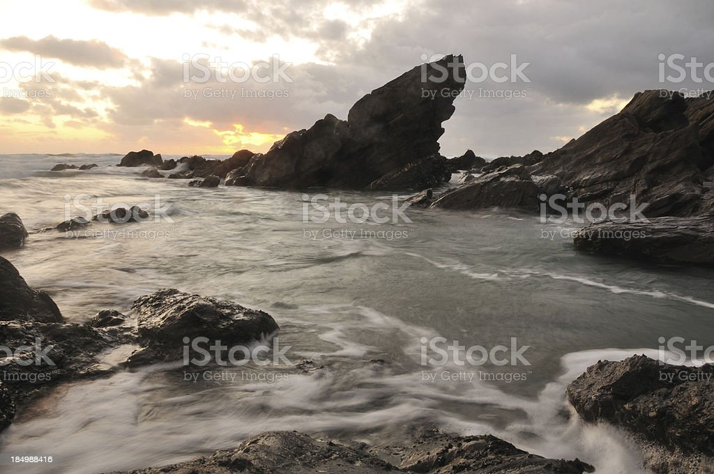 Church Cove sunset. stock photo