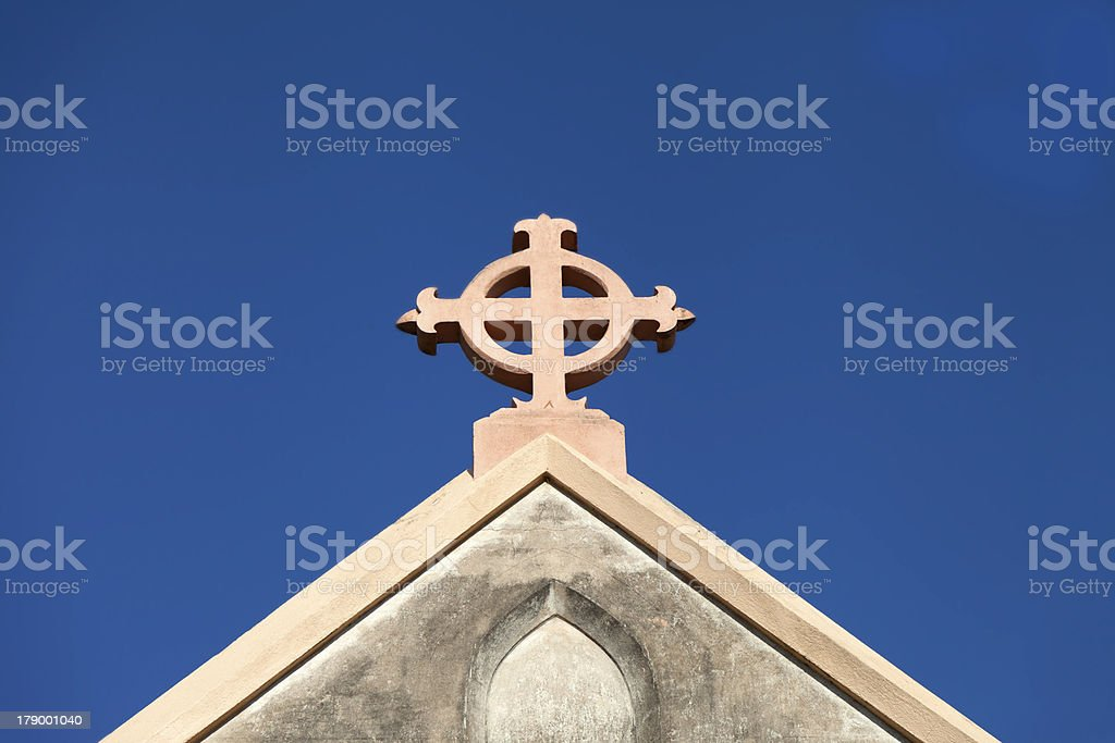 Church Cross royalty-free stock photo
