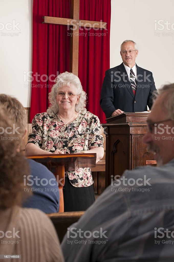 Church Deaf Interpreter royalty-free stock photo
