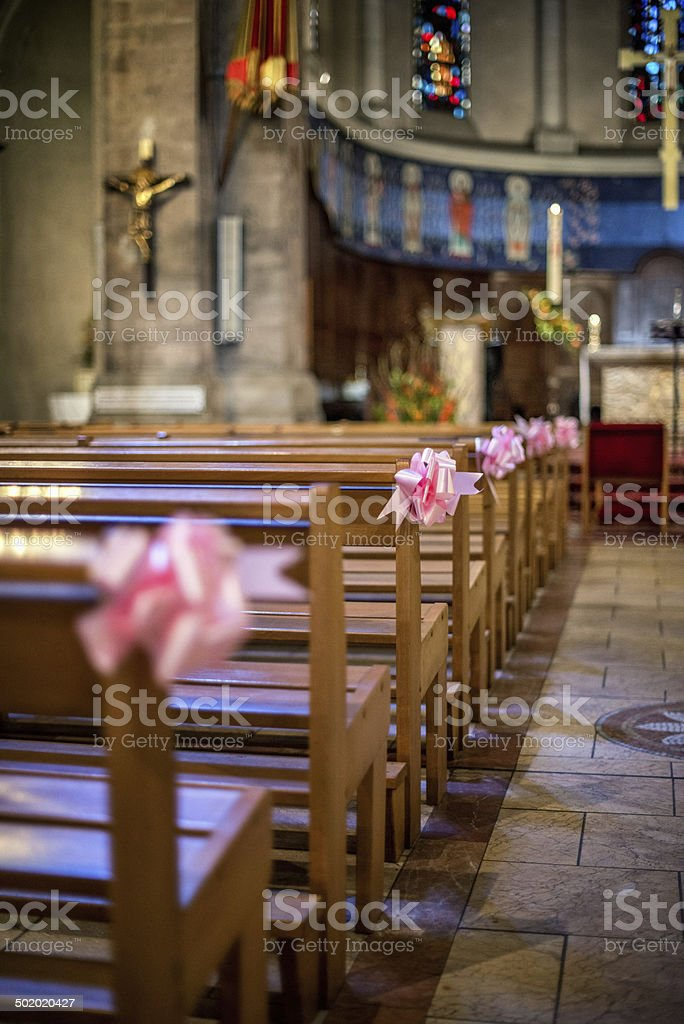 Church decoration stock photo