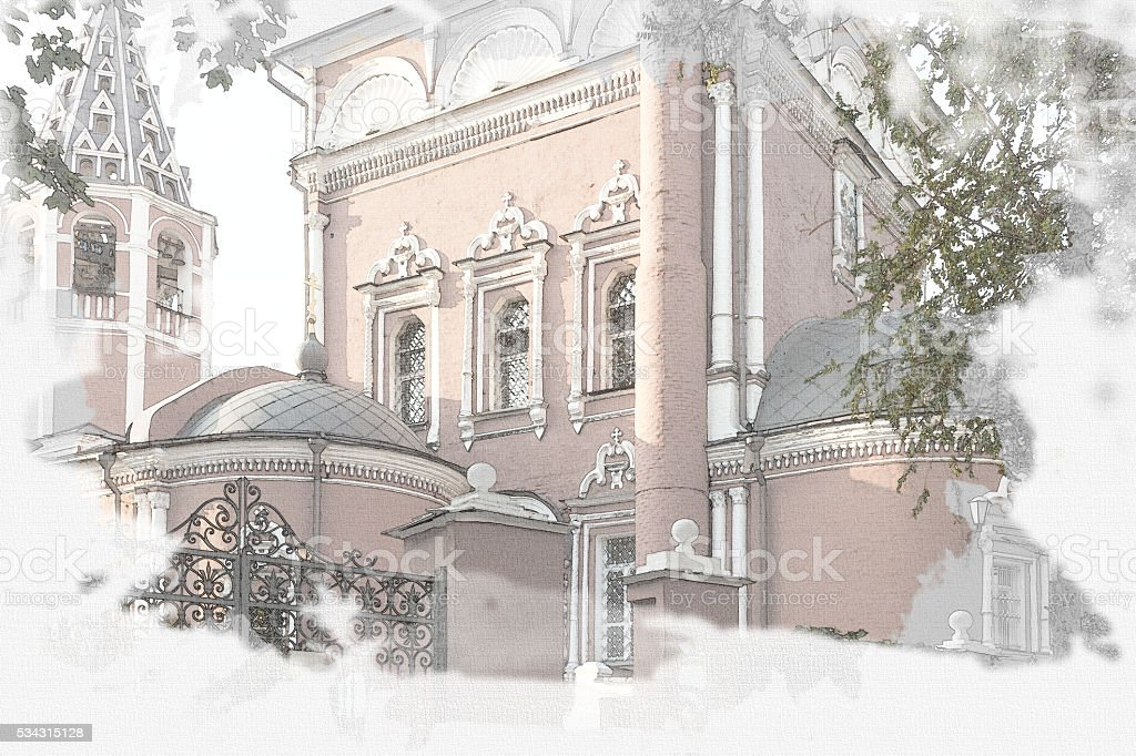 Church Deposition of  Robe on Donskoy, Moscow, 1701-1716. Russia. stock photo
