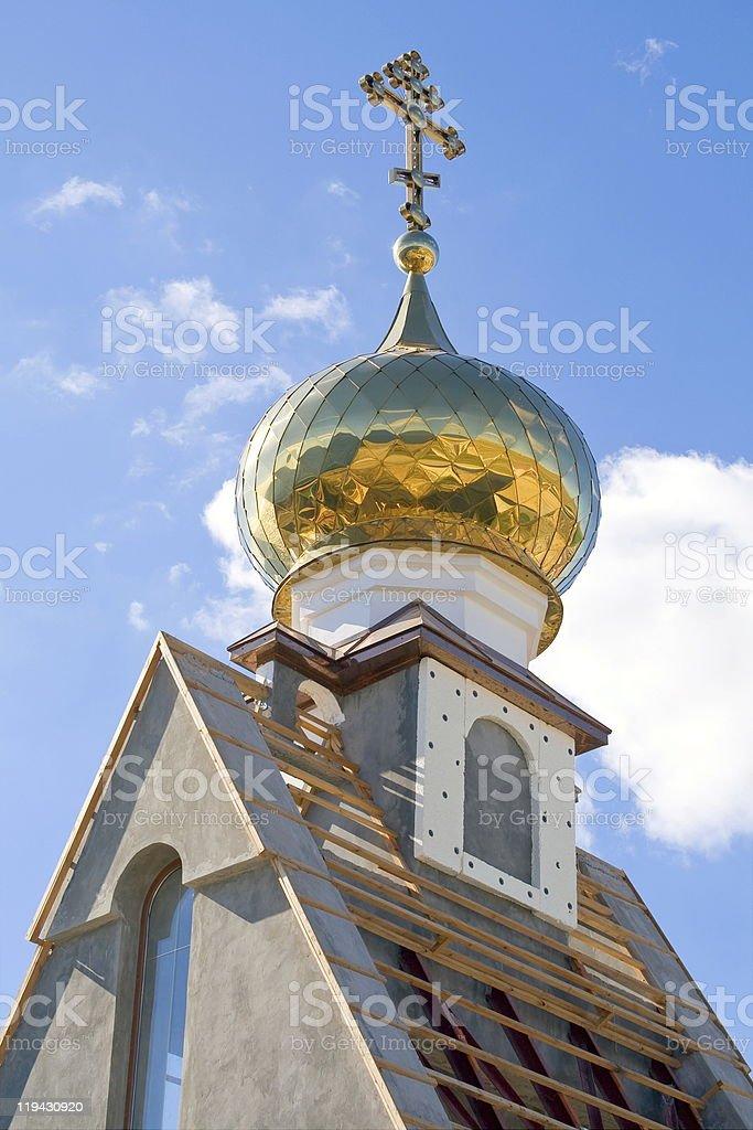 Church dome. royalty-free stock photo