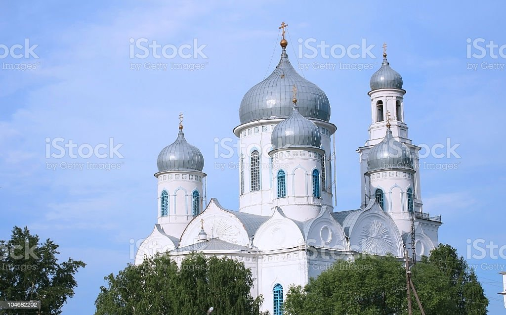 Church domes stock photo
