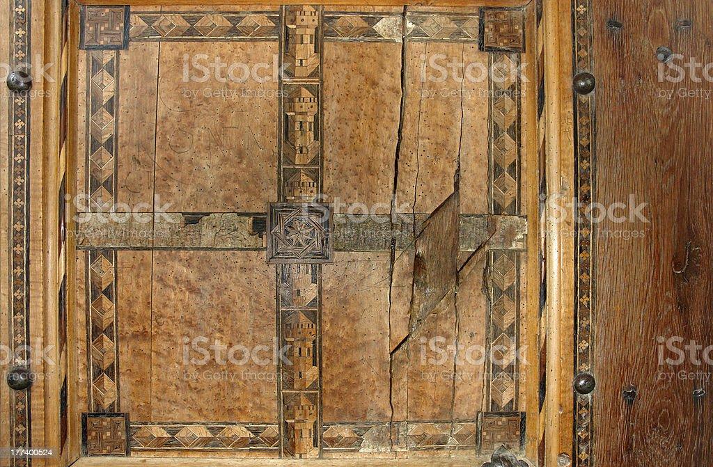 church door in Richis stock photo