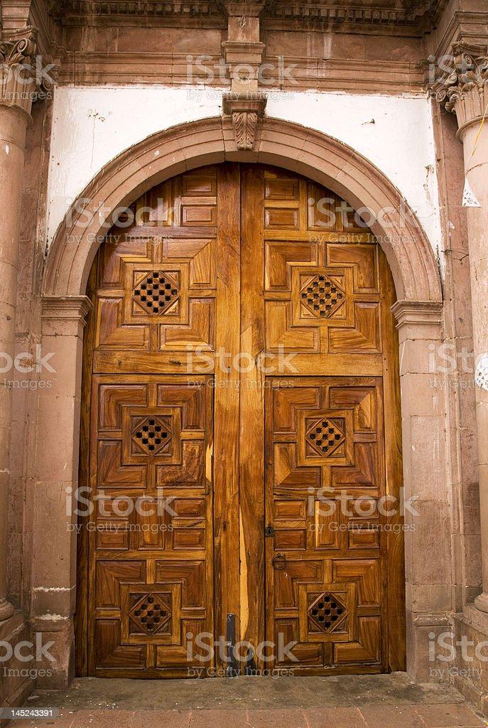 Church Door Janitzio Island Mexico royalty-free stock photo
