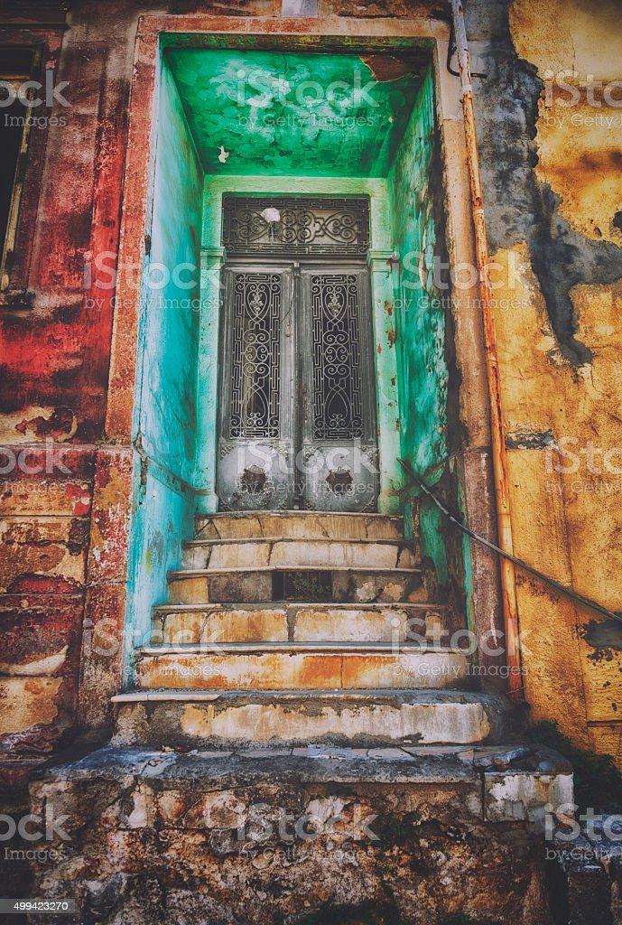 Church door stock photo