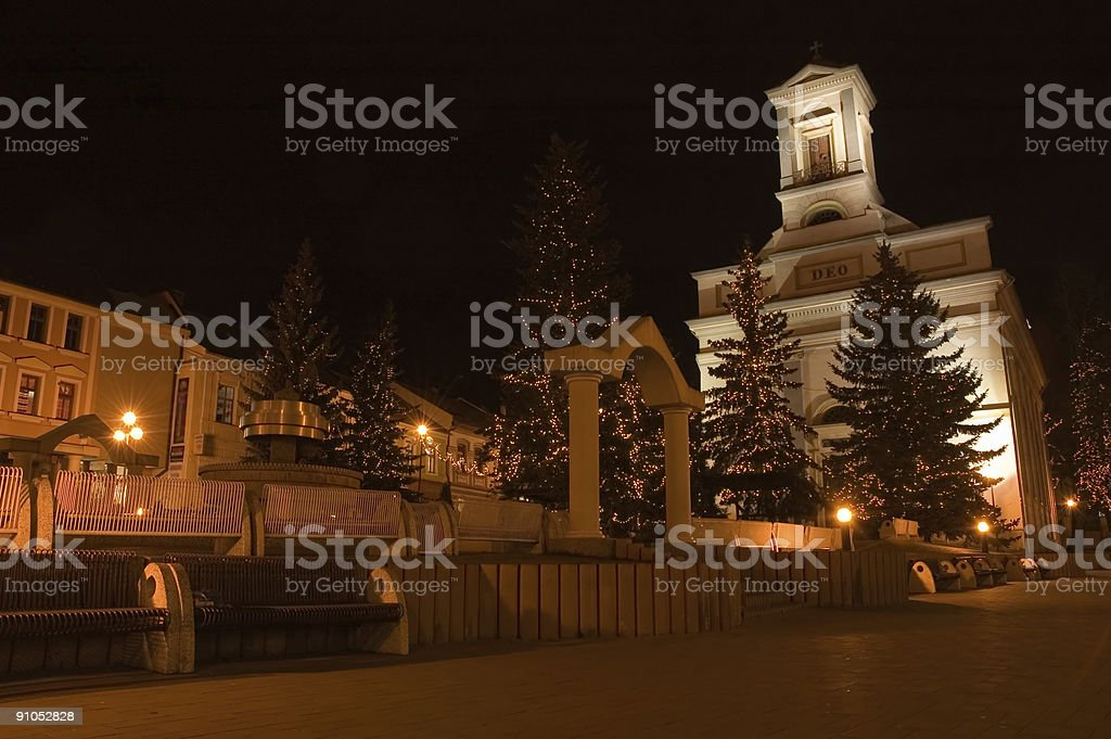 Church during the christmas royalty-free stock photo
