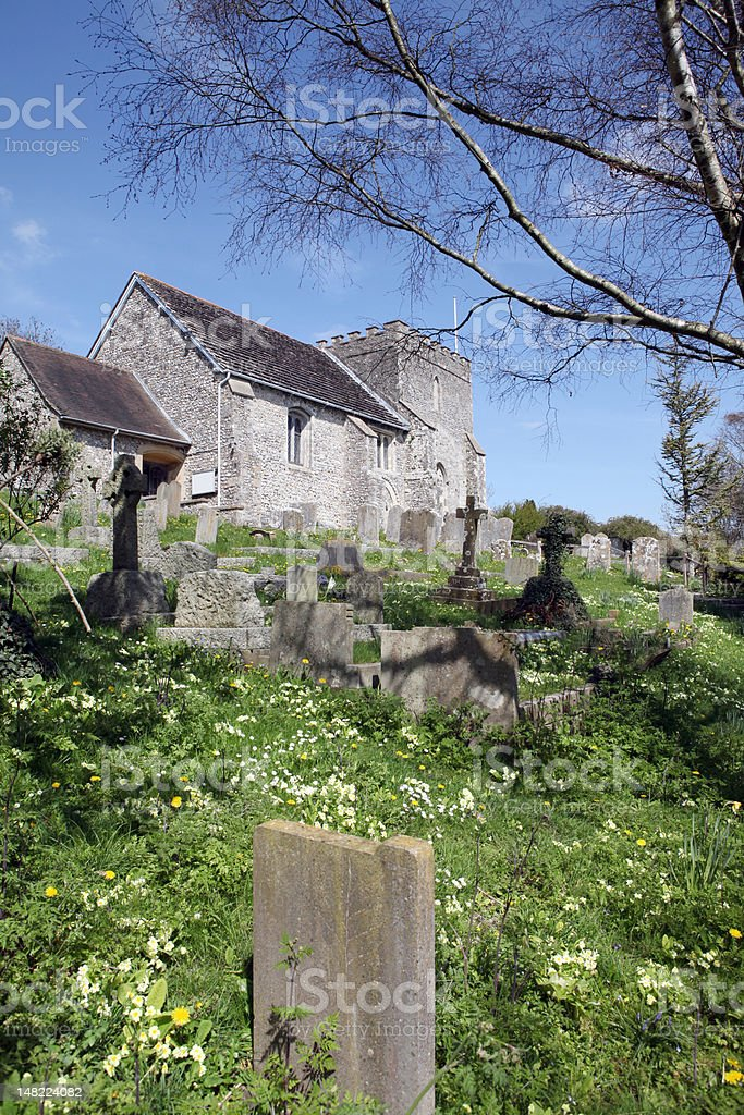 Church England medieval parish bramber stock photo