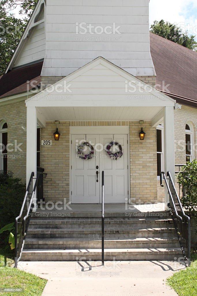 Church Enterance stock photo