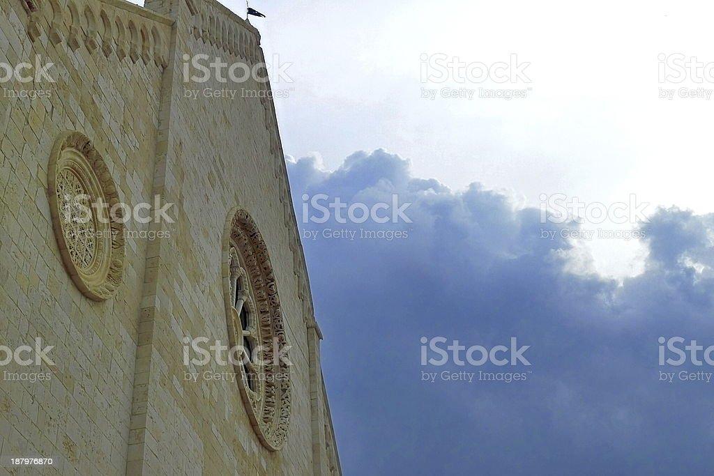 Church exterior facade. royalty-free stock photo