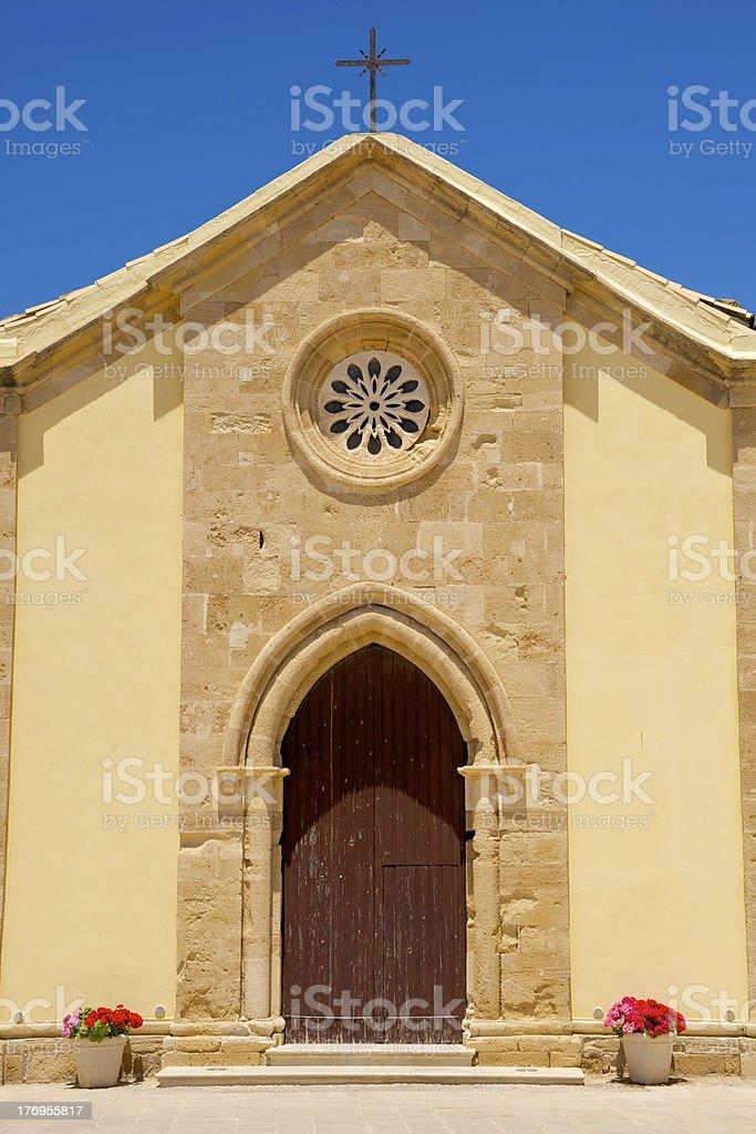 Igreja de fachada em Marzamemi, Sicília, Itália foto royalty-free
