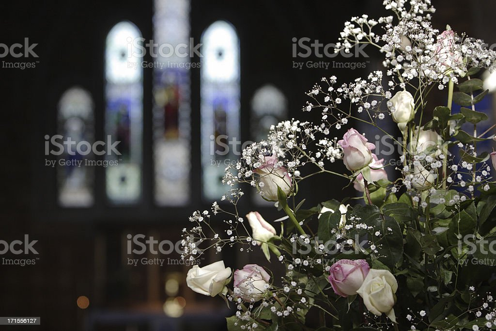 Church Flowers royalty-free stock photo