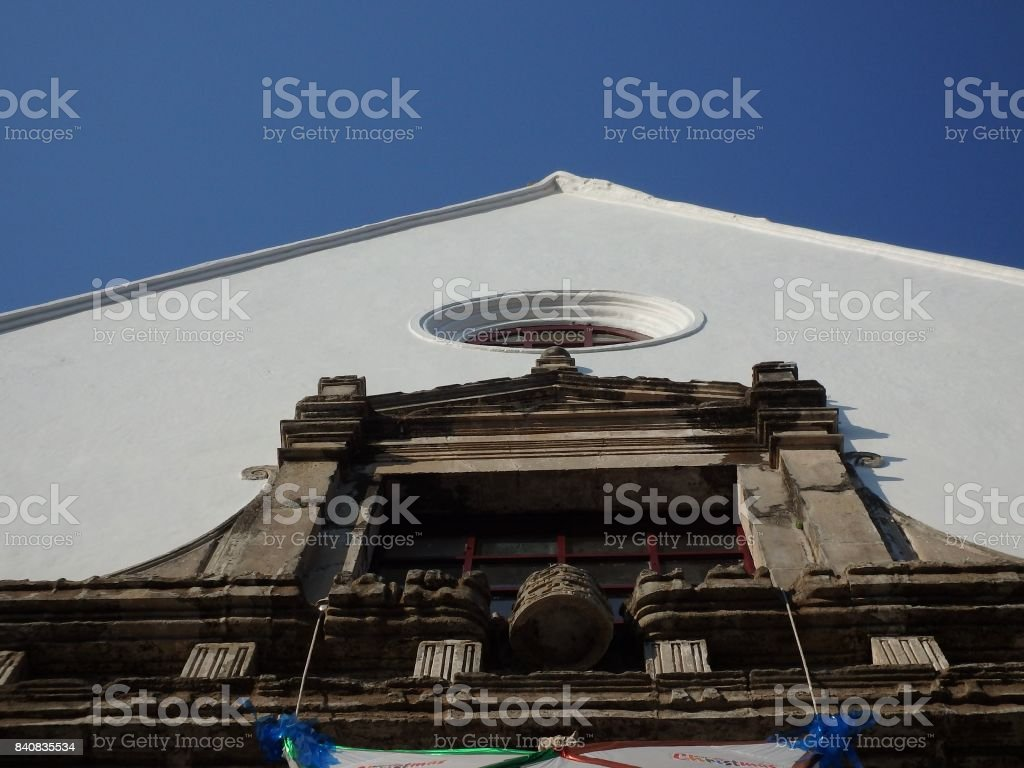 Church from facade stock photo