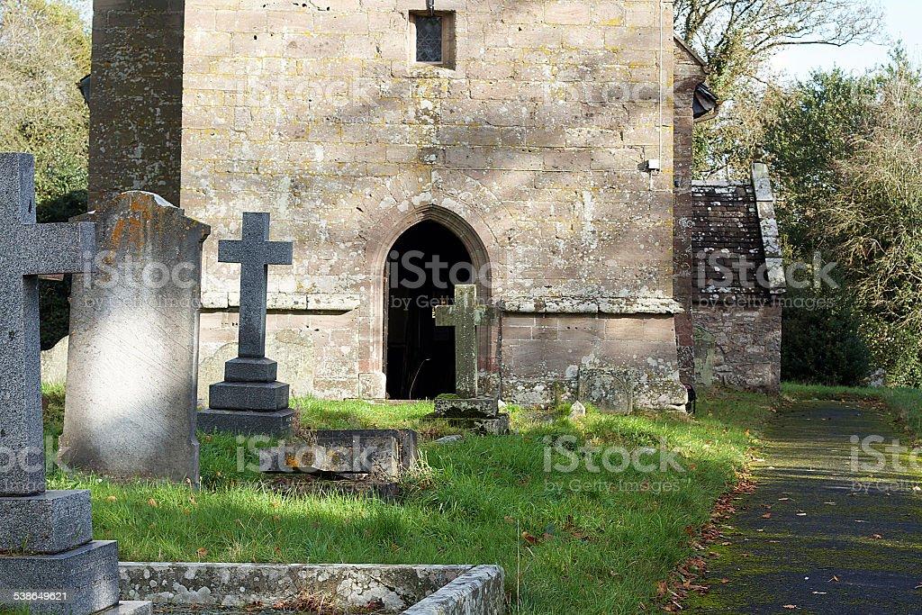 Chiesa Cimitero in Galles foto stock royalty-free