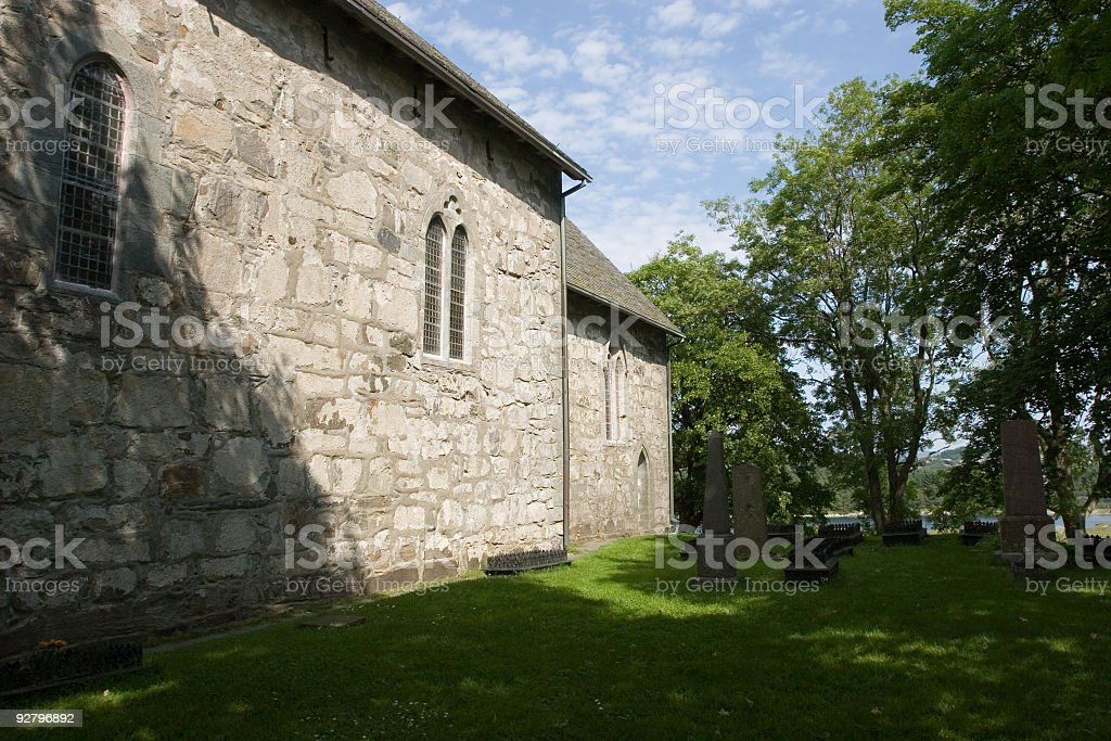 Church & Graveyard royalty-free stock photo