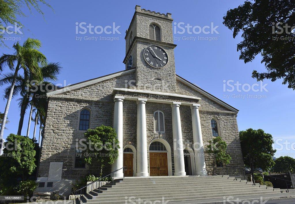 Church, Honolulu, Hawaii royalty-free stock photo