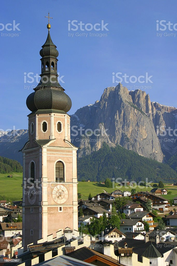 Church in a mountain village royalty-free stock photo