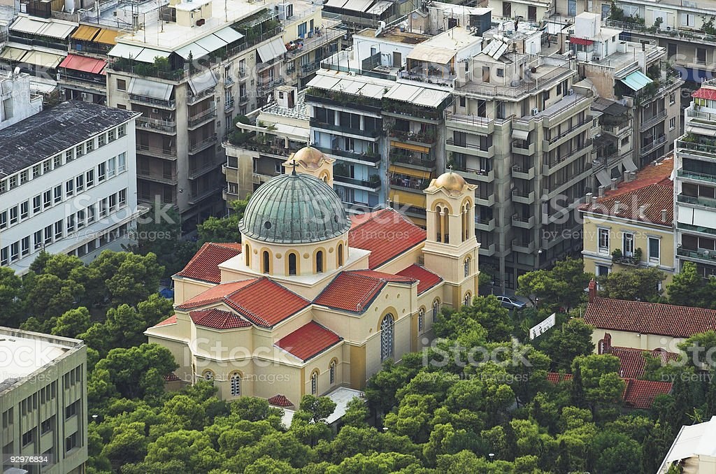 Church in a Sea of Concrete royalty-free stock photo
