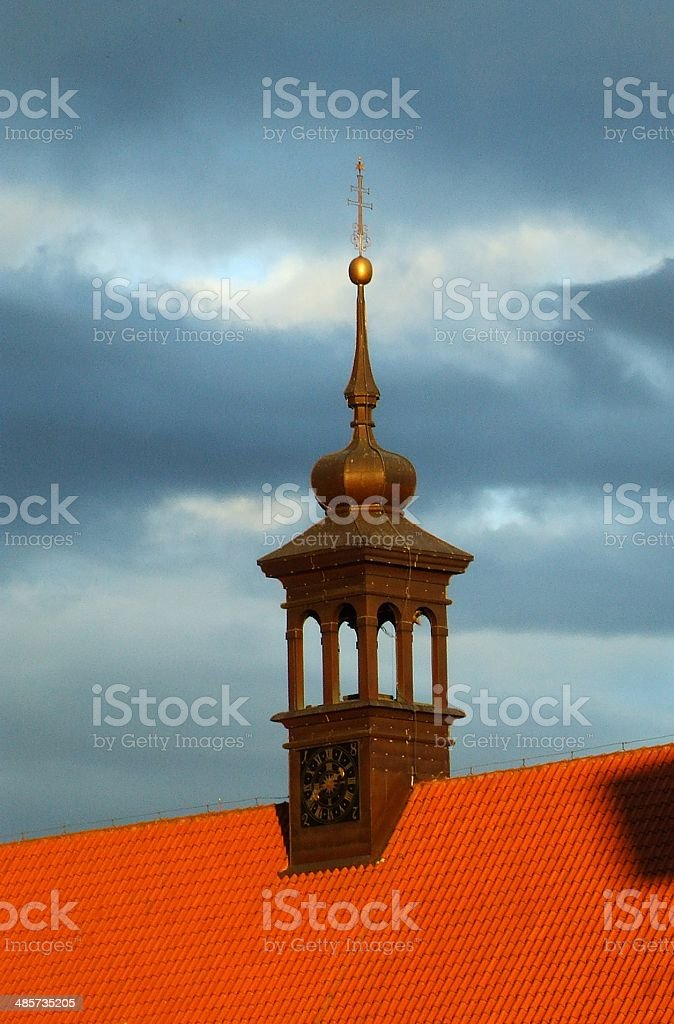 Church in a sunset beams Klodzk Poland stock photo