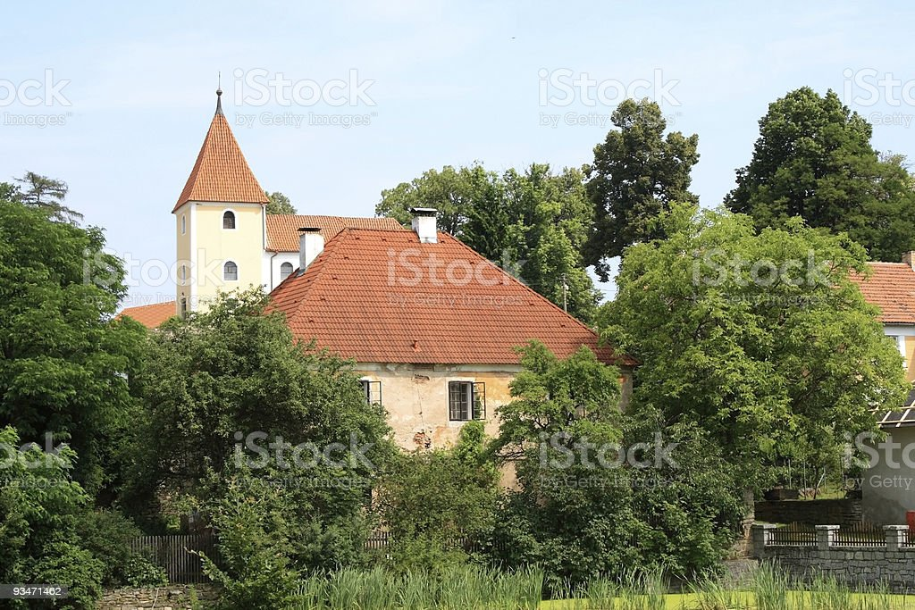 Church in a village royalty-free stock photo