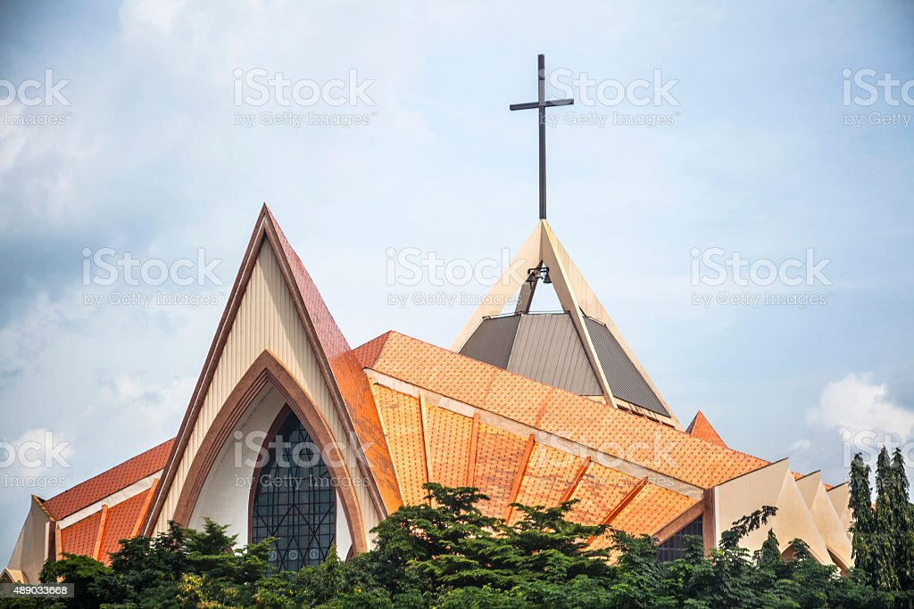 Church in Abuja, Nigeria. stock photo