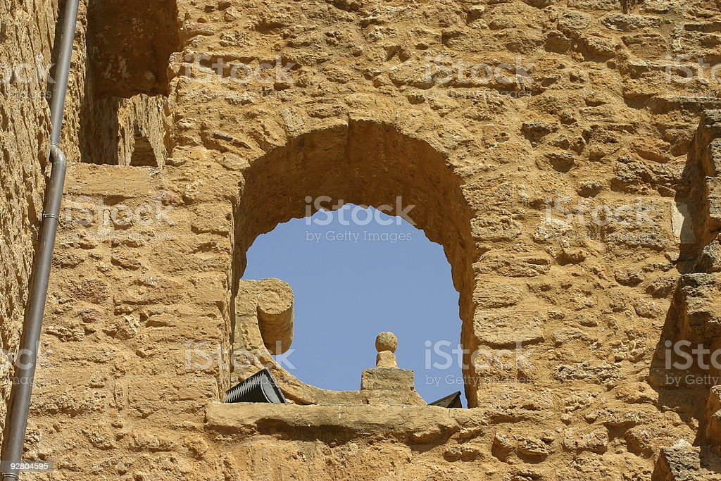 church in agrigento royalty-free stock photo
