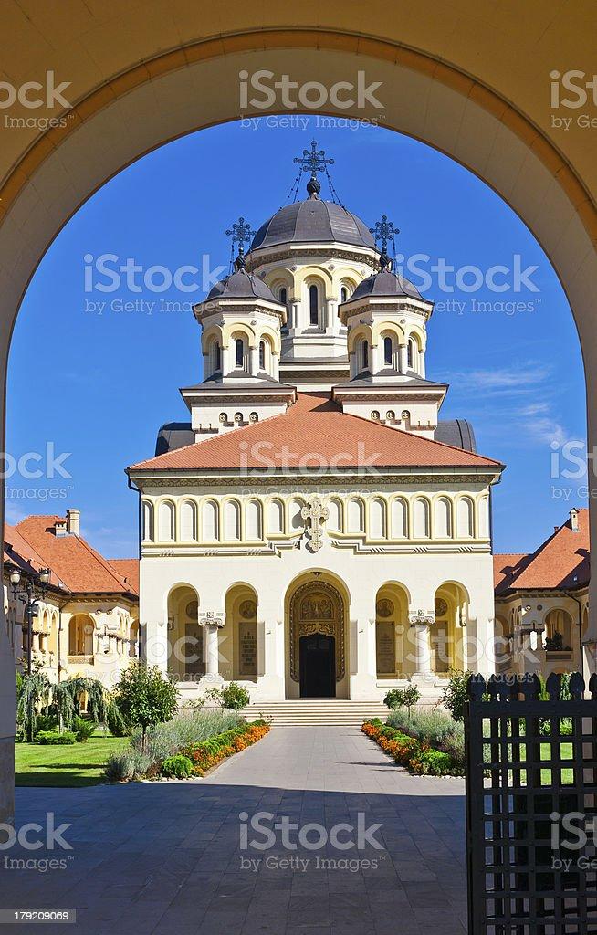 Church in Alba Iulia, Romania royalty-free stock photo