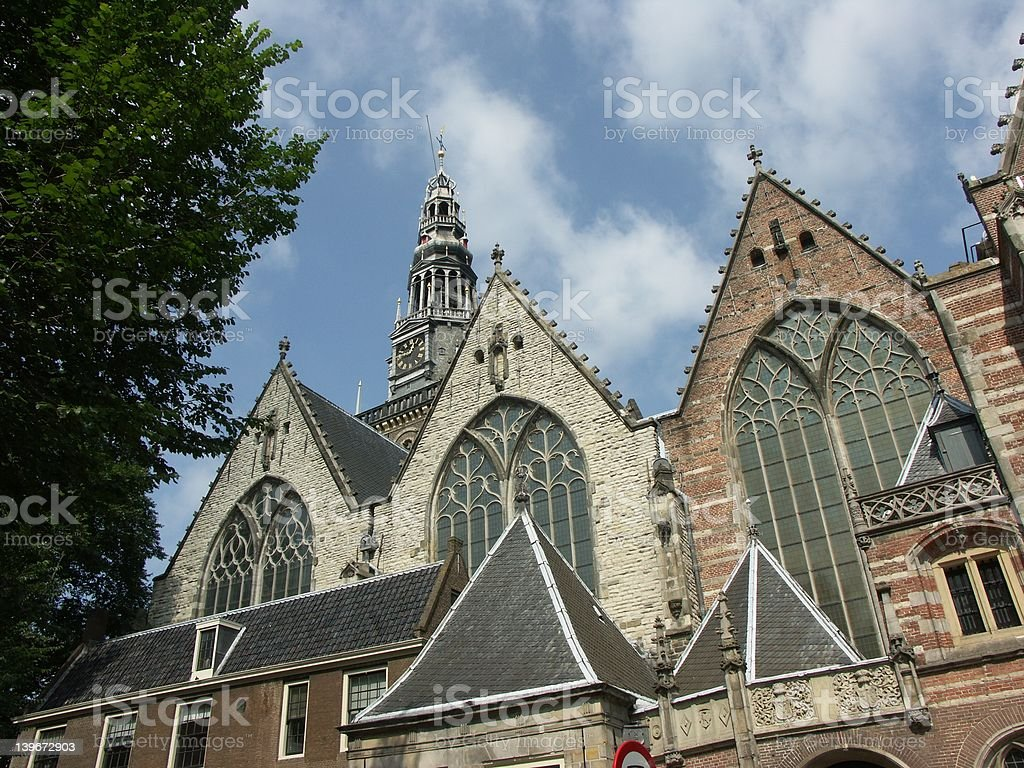 Church in Amsterdam (Nederland) royalty-free stock photo