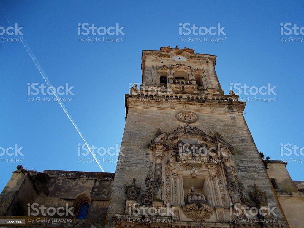 Church in Arcos de la Frontera, Andalusia, Spain stock photo