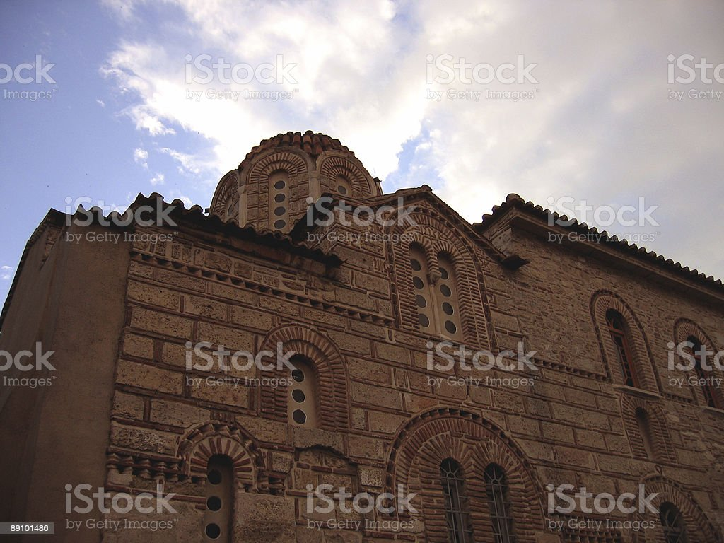 church in athens stock photo