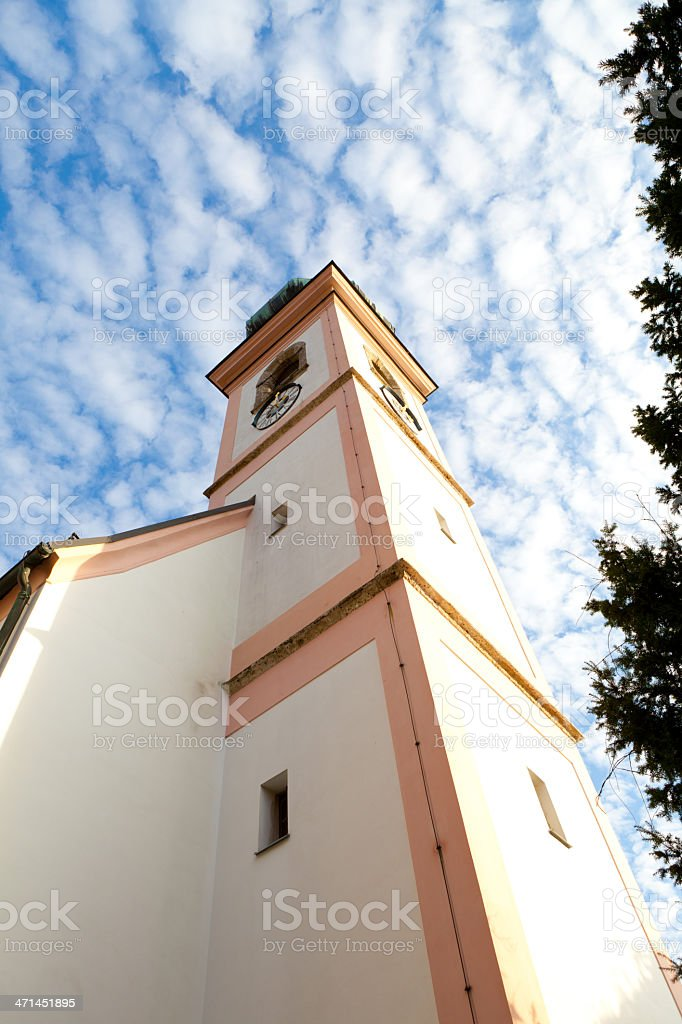 church in autumn royalty-free stock photo